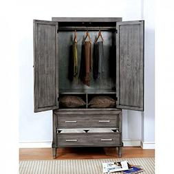 FA Furnishing Beckenham Nautical Wardrobe/TV Armoire 36 inch