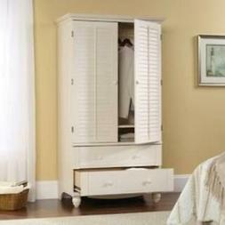 Bedroom Wardrobe Cabinet Storage Armoire with Louver Doors i