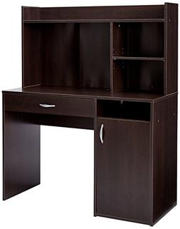 Sauder Beginnings Desk with Hutch in Cinnamon Cherry