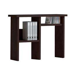 Benzara BM177549 Wooden Computer Hutch with Open Shelves, Br