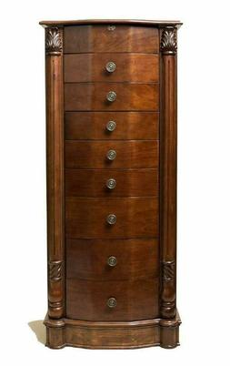 Brand New Hives And Honey Henry Iv Walnut Jewelry Armoire