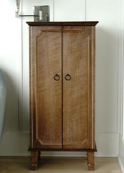 cabby fully locking standing jewelry armoire ceruse