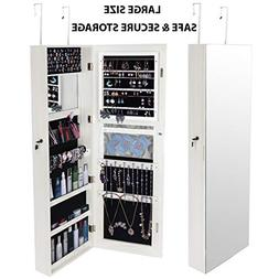 LVR Supply Large Jewelry Cabinet | Jewelry Armoire Wall Door
