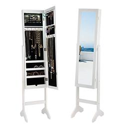 Giantex Jewelry Cabinet Armoire with 13 Led Lights, Large St