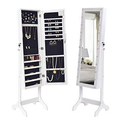 Elpitha LED Jewelry Cabinet Jewelry Armoire with Mirror and