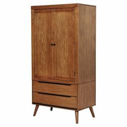 Furniture of America Charem Mid-Century Modern Double Drawer