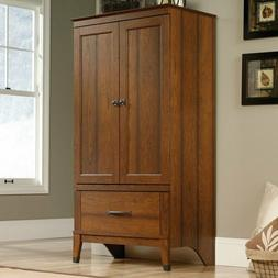 cherry finish armoire wooden wardrobe bedroom storage