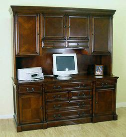 Cherry Traditional Office Computer Credenza/Armoire with Fil