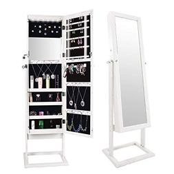 Bonnlo Cheval Jewelry Armoire Stable Square Freestanding wit