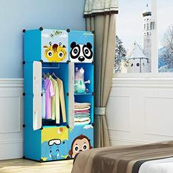 MAGINELS Children Wardrobe Dresser Portable Closet Bedroom A