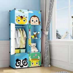 Maginels Children Wardrobe Kid Dresser Cute Baby Portable Cl