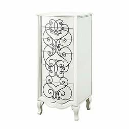 Powell Clara Jewelry Armoire In Vanilla Finish D1068J17