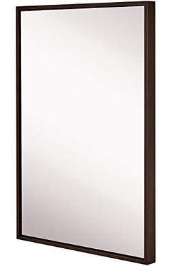 Hamilton Hills Clean Large Modern Wenge Frame Wall Mirror |