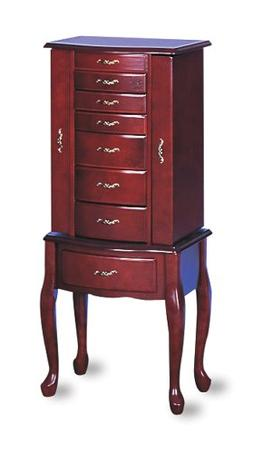 Coaster Traditional Jewelry Armoire, Cherry