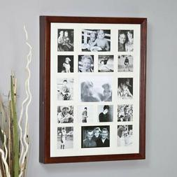 Collage Photo Frame Wooden Wall Locking Jewelry Armoire - 23