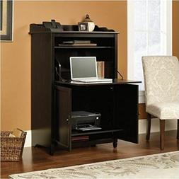 Computer Armoire Black Desk Cabinet Office Hutch Storage Fil