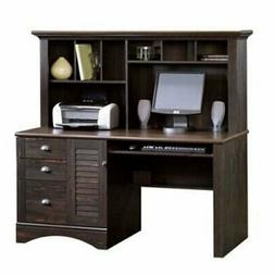 Bowery Hill Computer Desk w Hutch in Antiqued Paint