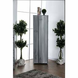 contemporary metal locker inspired armoire with two