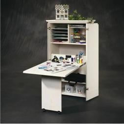 Craft Storage Furniture Cabinet Armoire Sewing White Table D