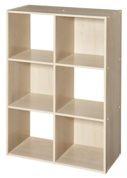 ClosetMaid 4176 Cubeicals Organizer, 6-Cube, Birch
