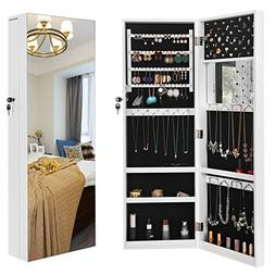"SONGMICS 5.3"" D Deepened Jewelry Cabinet Armoire for Bulky J"