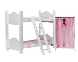 Cinderella USA Doll Bunk Bed with Ladder and Armoire