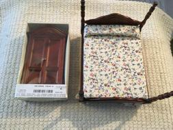 Dollhouse Miniatures 1:12  Scale Bombay Armoire & Bed NEW