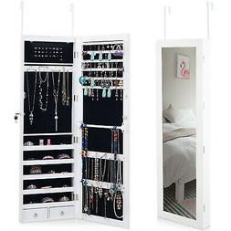 Giantex Door Wall Jewelry Cabinet Armoire Mounted with 15 LE