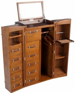 Dressing Malle-Valet, Walnut, Traveling  Armoire - CAPE TOWN