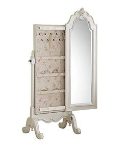 Acme Furniture Edalene 30520 Cheval Jewelry Armoire, Pearl W