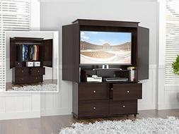 Inval America Espresso-Wengue Video AV/Armoire Combo