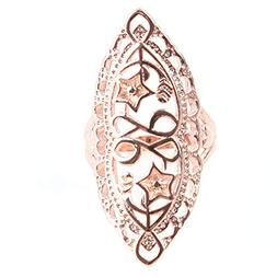 MOONQING Exaggerated Cutout Ring Vintage Style Ring Classic