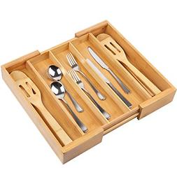 Expandable Cutlery Tray & Drawer Organizer for Silverware,Ut