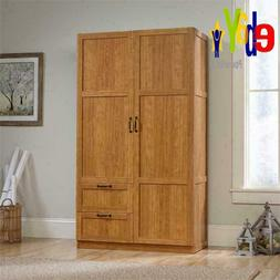Finish Armoire Wooden Wardrobe Storage Cabinet Closet Drawer