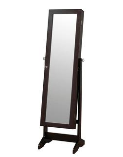 ViscoLogic Floor Standing Cabinet Jewelry Armoire with Mirro