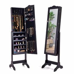 <font><b>Giantex</b></font> Mirrored Lockable Jewelry Cabine