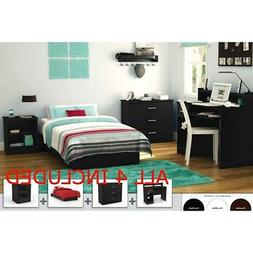 Full Bedroom Furniture Set Bed Nightstand Armoire Dresser St
