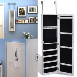 GF Gift Free Standing Mirrored Jewelry Cabinet Armoire Key S