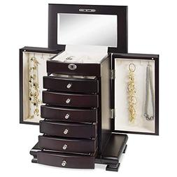 Best Choice Products Handcrafted Wooden Jewelry Box Organize