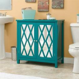 Harbor View 2 Door Geometric Accent Storage Cabinet - Caribb