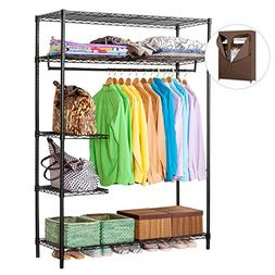 LANGRIA Heavy Duty Wire Shelving Garment Rack Clothes Rack,