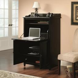 Hidden Office Desk Compact Computer Armoire Dark Espresso Ca