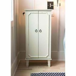 Hives and Honey Cabby Jewelry Armoire White White