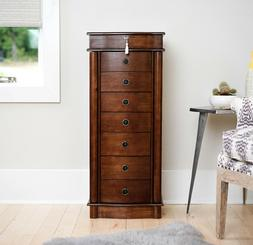 Hives And Honey Nora Jewelry Armoire  Walnut