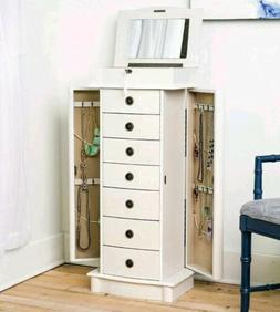 "Hives and Honey ""Nora"" Standing Jewelry Armoire White 37.5"""