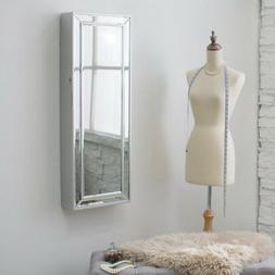 Belham Living Hollywood Mirrored Locking Wall-Mount Jewelry
