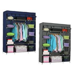 Home Bedroom Portable Wardrobe Clothes Armoire Closet Storag