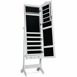 home jewelry mirrored cabinet armoire storage organizer