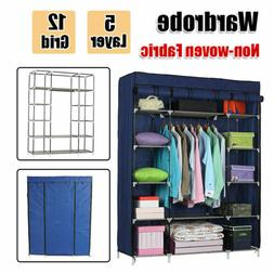 Home Portable Wardrobe Clothes Armoire Closet Storage Shoe R