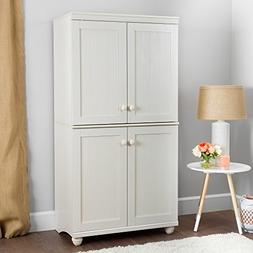 South Shore Hopedale Tall 4-Door Storage Cabinet with Adjust